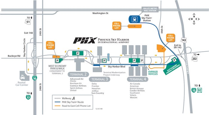 SKY HARBOR INTERNATIONAL AIRPORT TERMINAL MAP